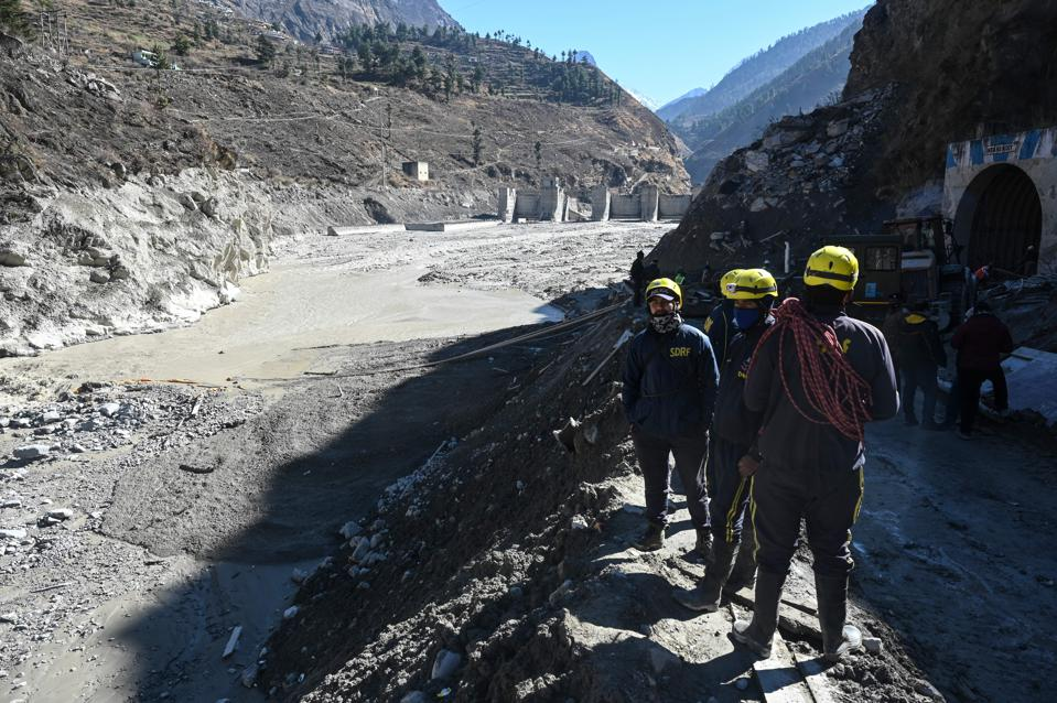 INDIA-CLIMATE-FLOOD-GLACIER