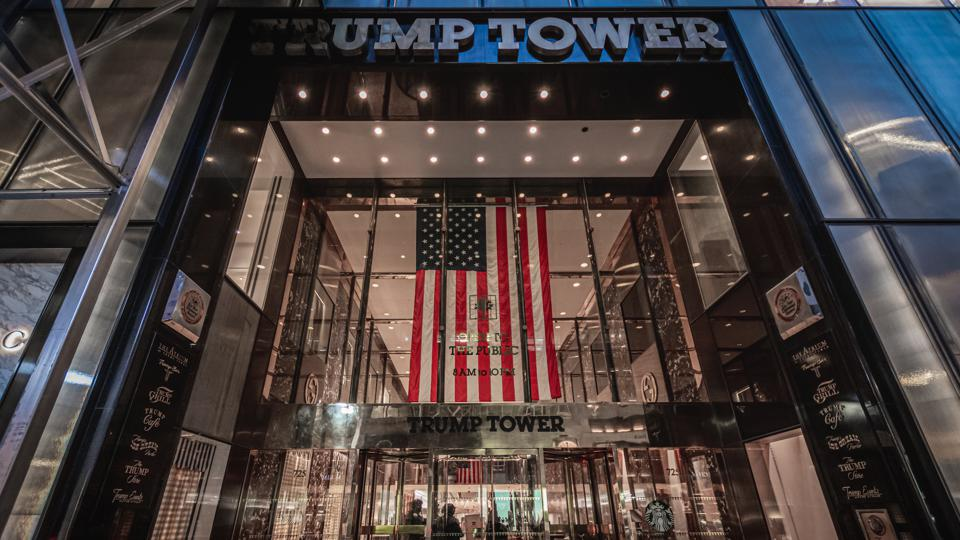 Trump Tower's Fifth Avenue entrance seen barricated,...