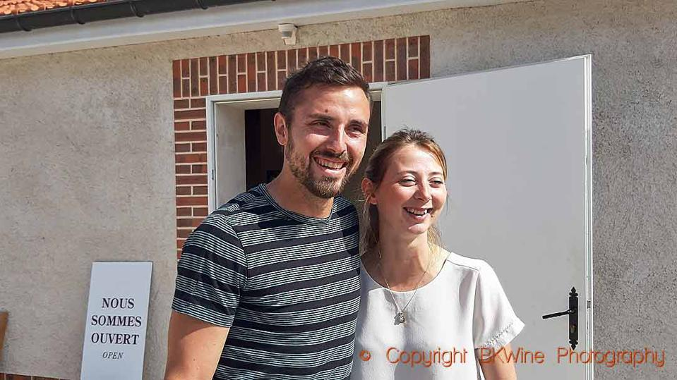 Quentin Vincey and Marine Zabarino of Champagne Domaine Vincey