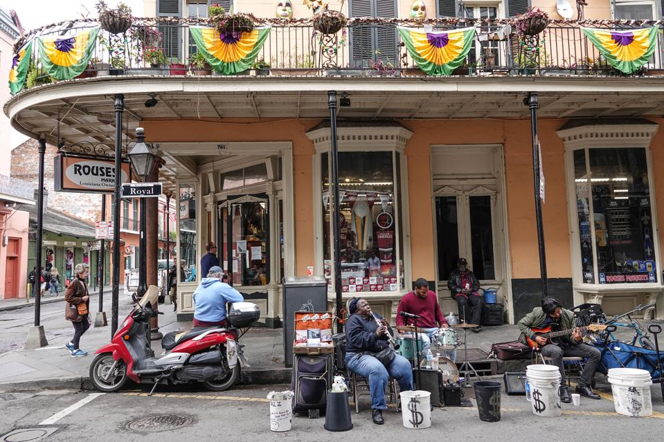 Music on the streets is an important part of daily life in New Orleans, Louisiana