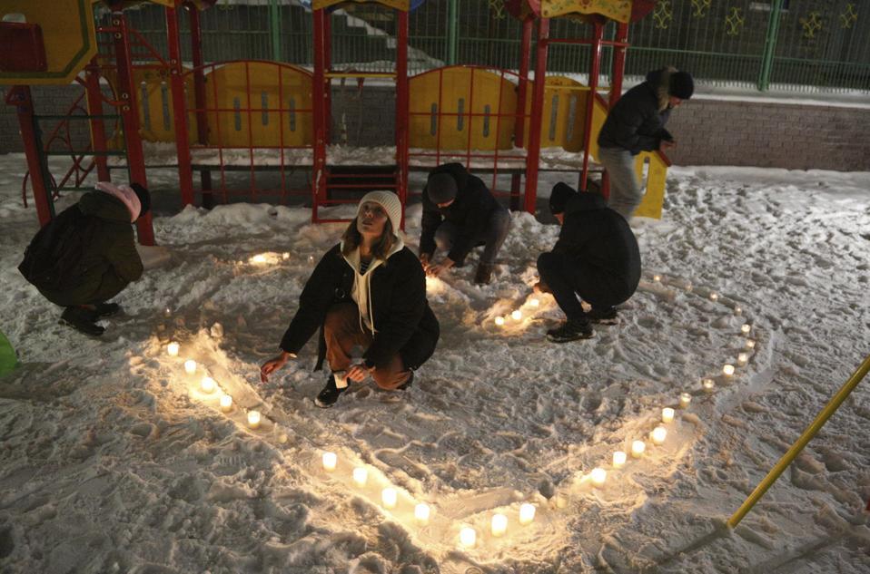 Russia Navalny Flashlight Protest
