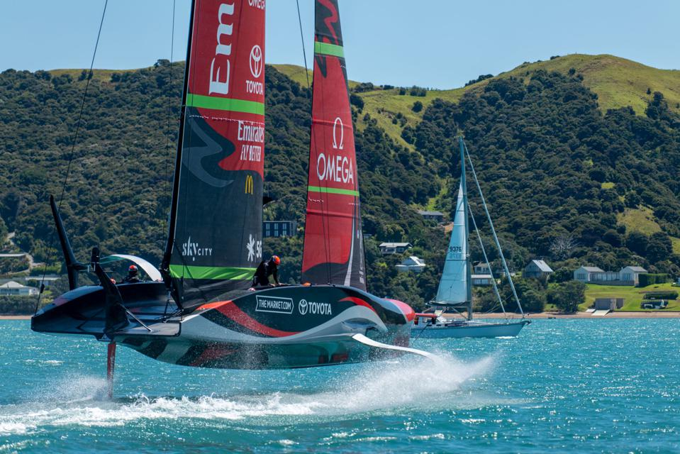 Emirates Team New Zealand America's Cup boat