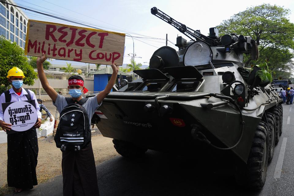 Anti-coup protests continue in Myanmar