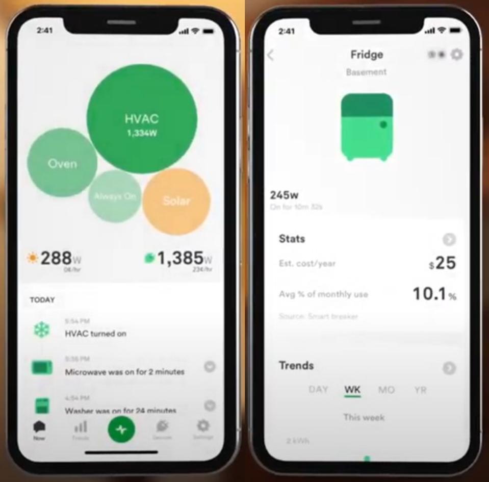 Images of the Wiser energy management platform