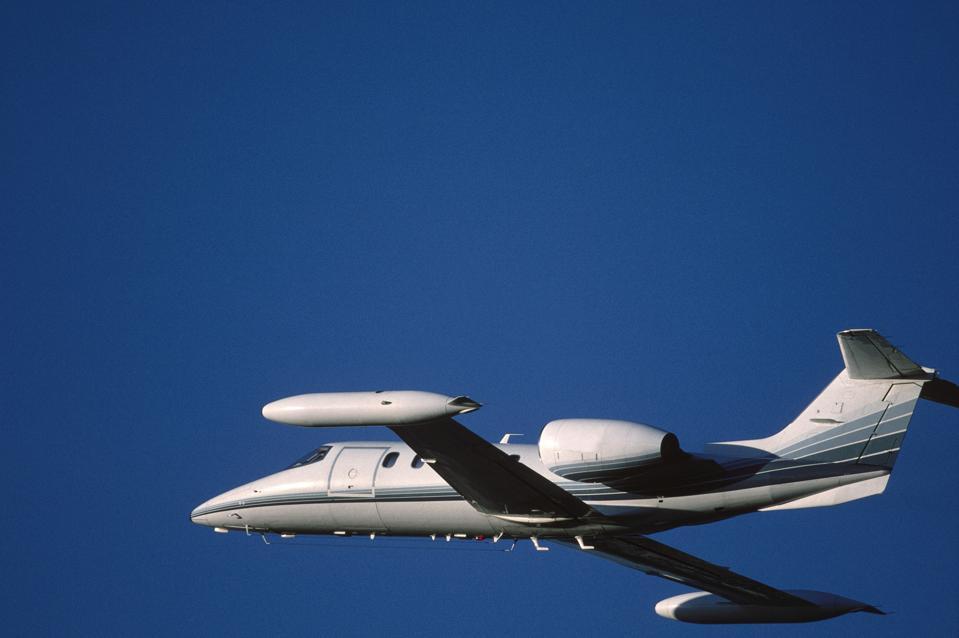 Bombardier Learjet 35A climbing enroute