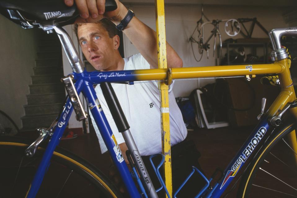 Cyclist Greg Lemond at Home