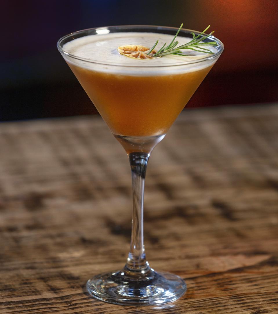 Sweet Tart Margarita in cocktail glass
