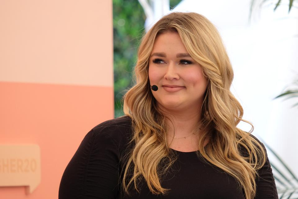 Model Hunter McGrady at the BlogHer20 Health Panel
