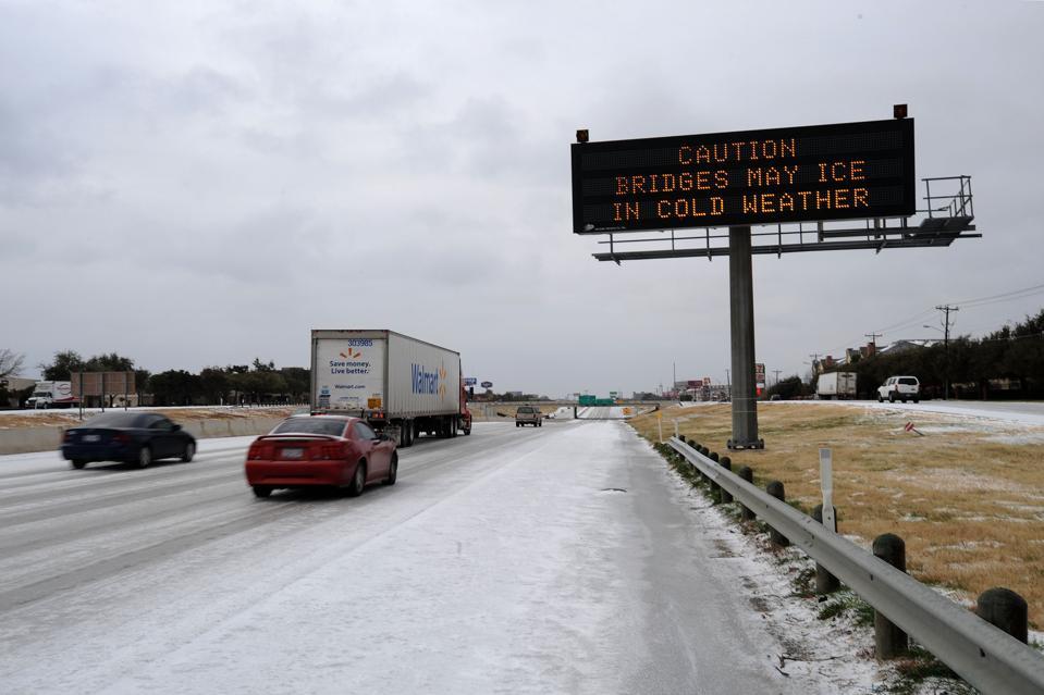 Major Ice Storm Hits Dallas Area