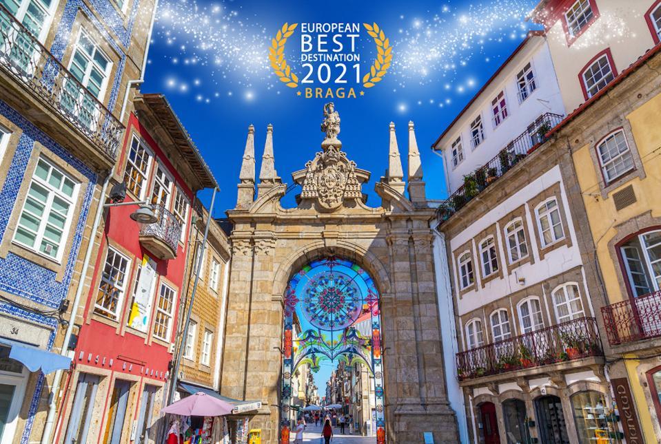 old city center of Braga, Portugal