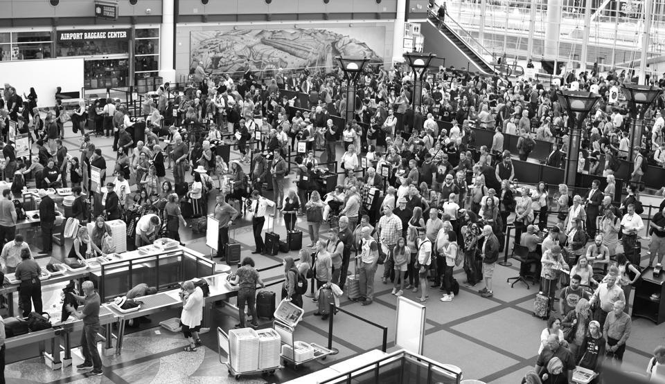 Denver International Airport candid scenes