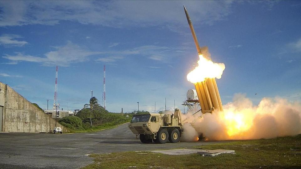 Test launch of a THAAD missile.