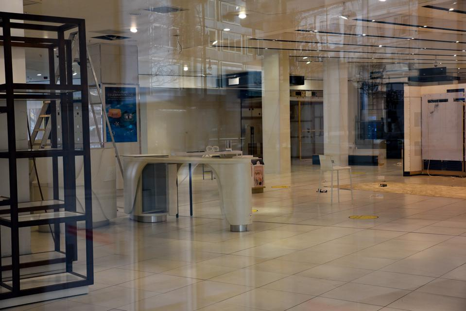 Debenhams flagship store being emptied, London
