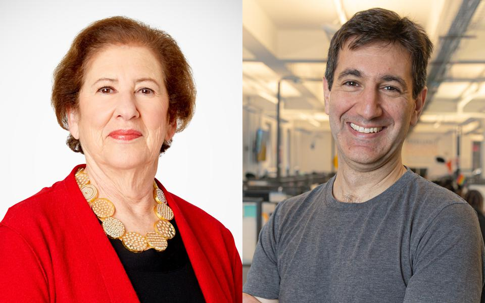 Composite image of Betsy Cohen, Bancorp founder and serial SPAC investor, and Scott Galit, CEO of Payoneer