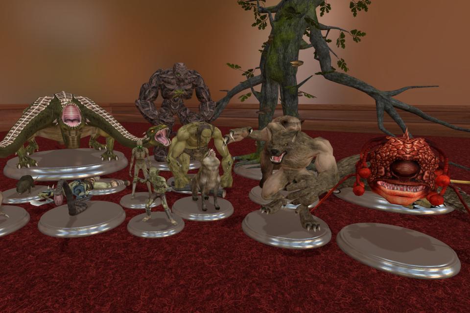 Tabletop simulator RPG models