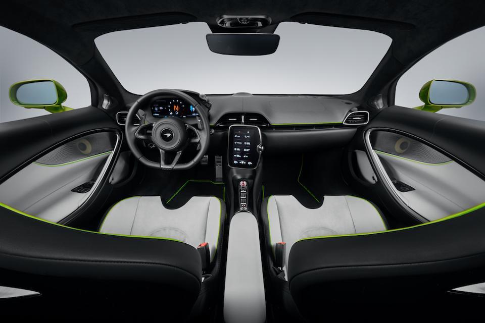 McLaren enhanced the driver-focused cockpit.