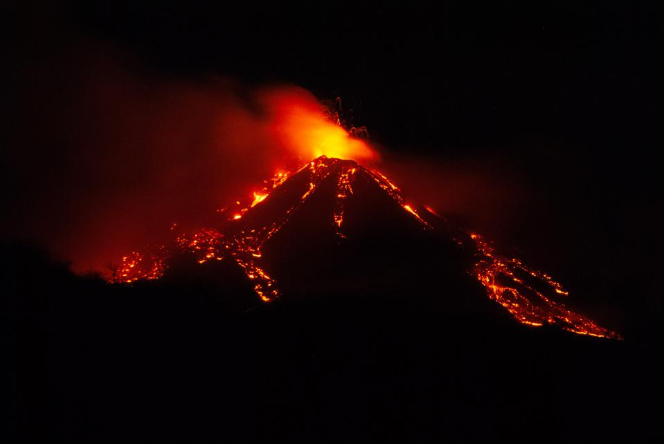 Eruption from at Mount Etna