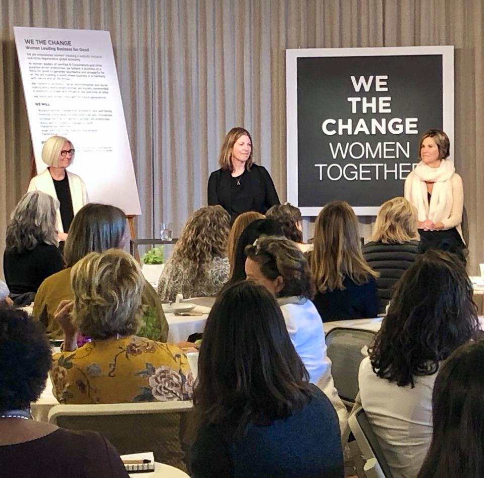 Panel discussion during meeting of WeTheChange at EILEEN FISHER  headquarters