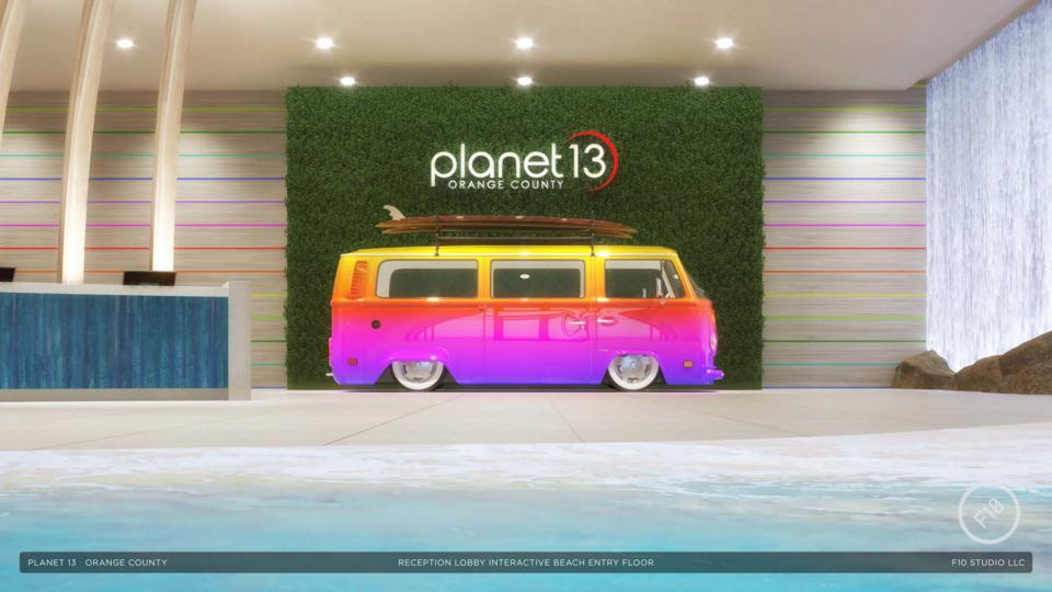 An interactive Volkswagen bus will ″smoke up″ for a photo opportunity for guests.