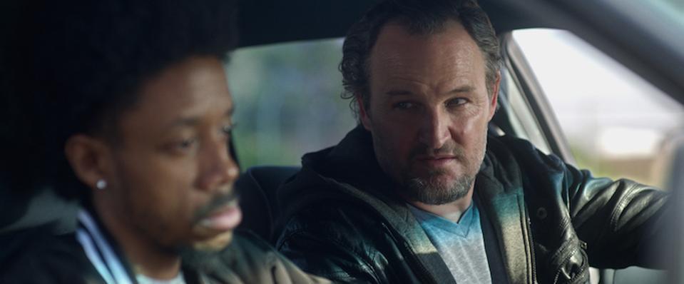 Darrell Britt-Gibson and Jason Clarke in 'Silk Road.'