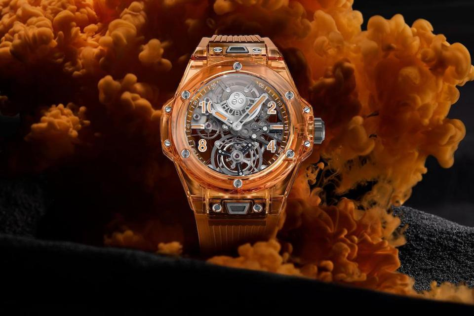 Hublot Big Bang Tourbillon Automatic Orange Sapphire watch
