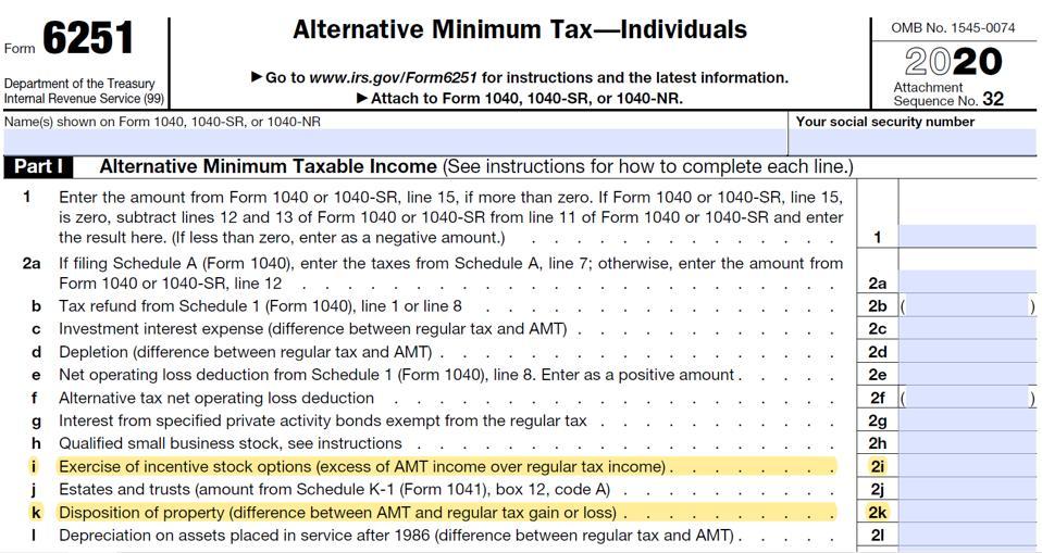 IRS Form 6251