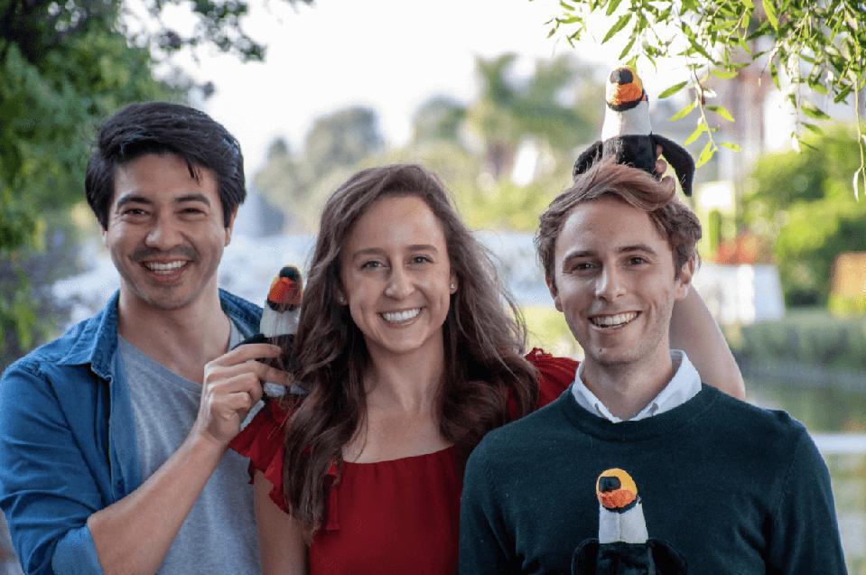 Toucan cofounder pose for a group photo
