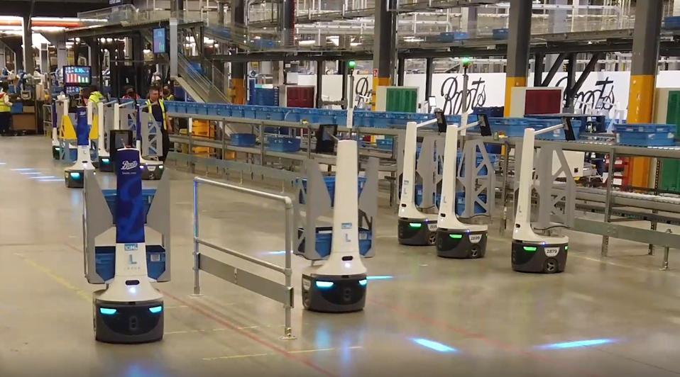 Locus Robotics' bots, called LocusBots, work a warehouse.