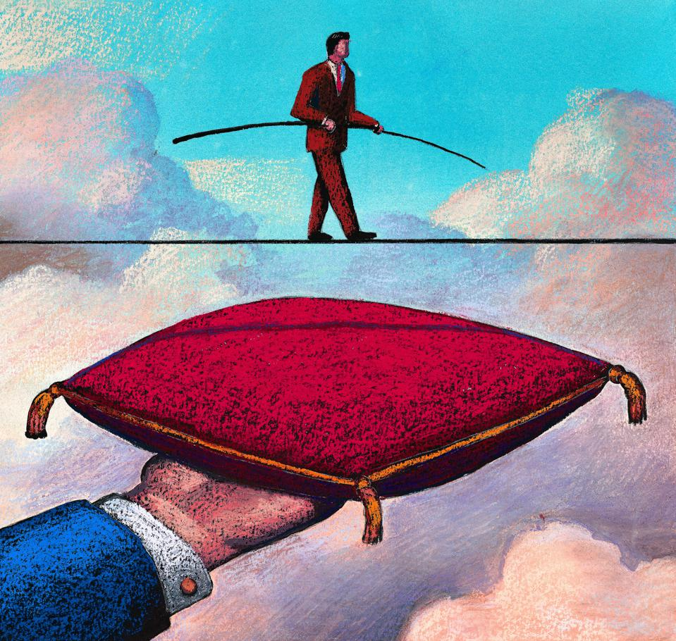 Tightrope with Pillow Below