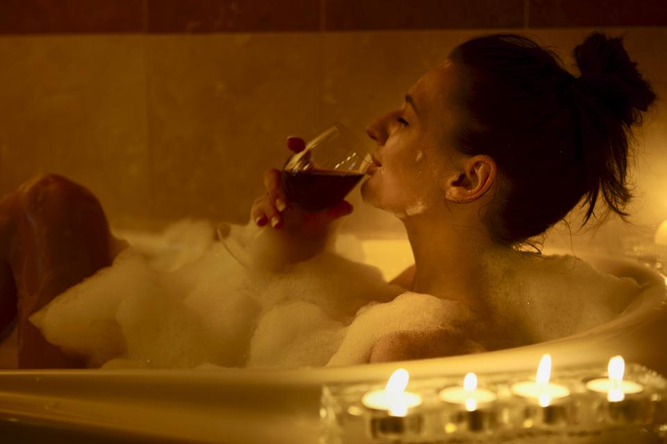Girl in the bath