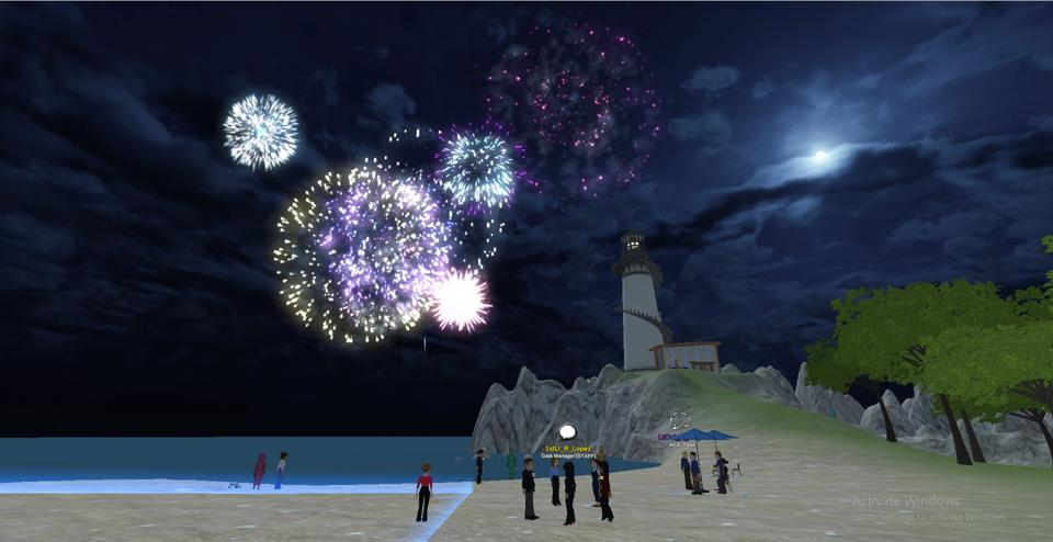 virtual firework display at youth conference for young cadets in the United States