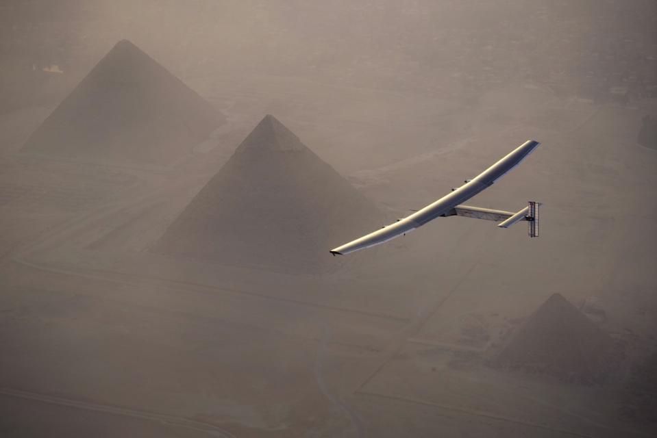 Solar Impulse Flies Over Egypt