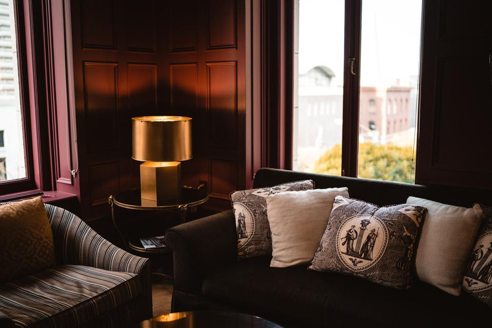 Hotel lounge interior