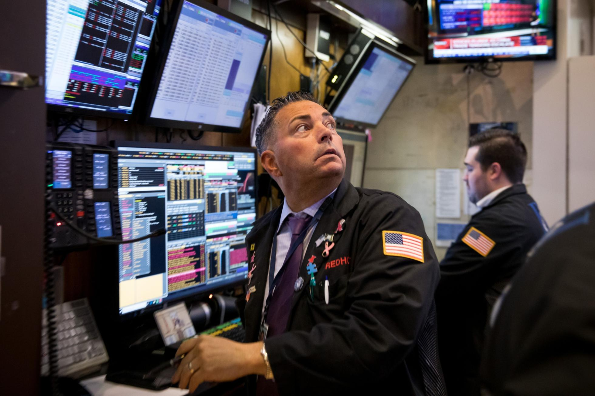 Trading On The Floor Of NYSE While Stocks, Commodities Tumble As China Strikes Back