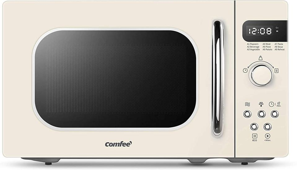 Comfee' Retro Countertop Microwave