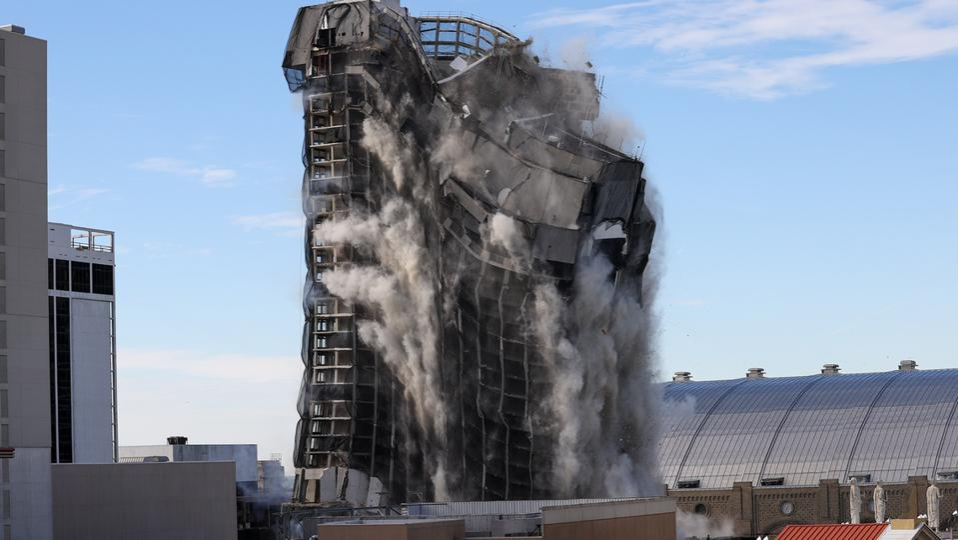 Former Trump Plaza Hotel and Casino demolished in Atlantic City