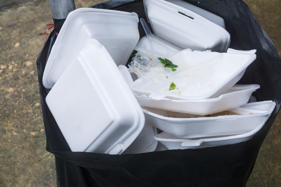 Foam food containers are waste problems