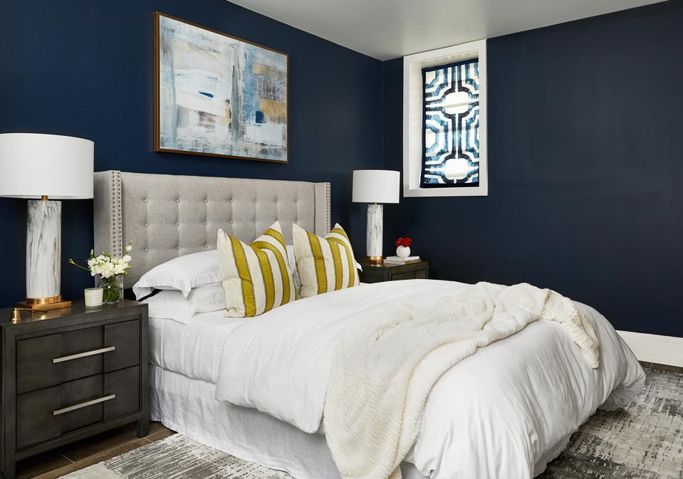 A beautiful, contemporary bedroom.
