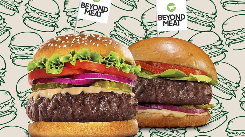Two meatless hamburgers