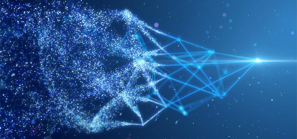 Particle and wire frame network