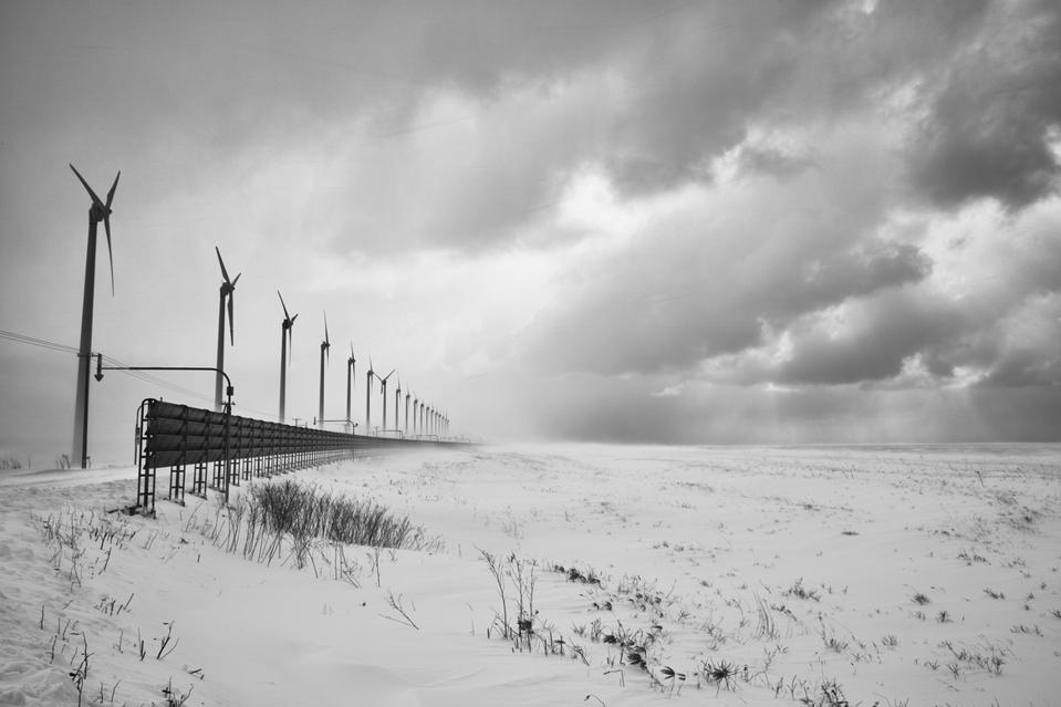 turbines wind and snow