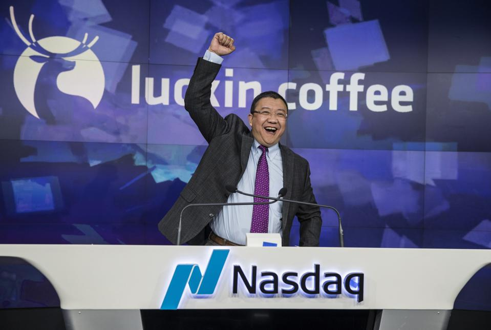 Luckin Coffee Debuts Initial Public Offering At Nasdaq MarketSite