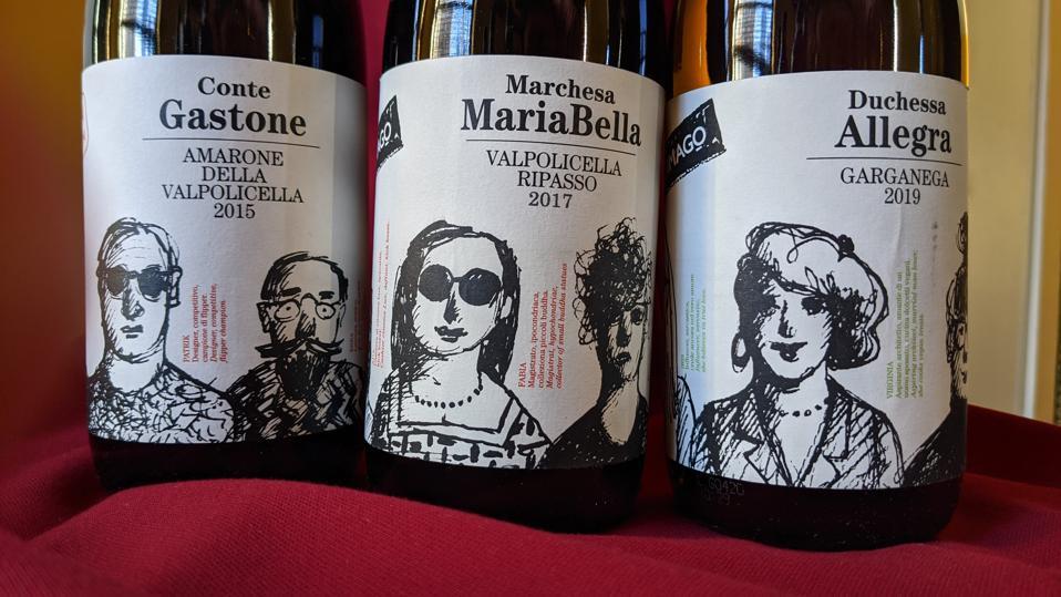 'Conte Gastone' Amarone, 'Marchesa Mariabella' Ripasso and 'Duchessa Allegra' Garganega