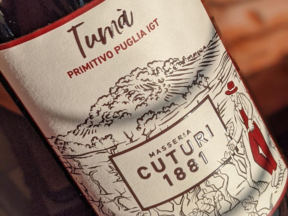 2019 Masseria Cuturi 1881 'Tumà'