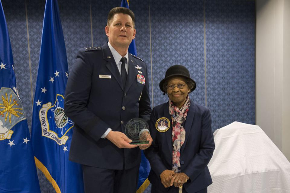 Hidden Figure Dr. Gladys West is inducted into the Air Force Hall of Fame.