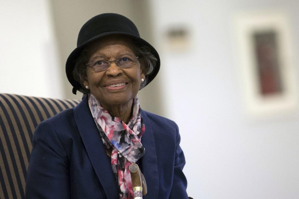 Dr. Gladys West is inducted into the Air Force Space and Missile Pioneers Hall of Fame.