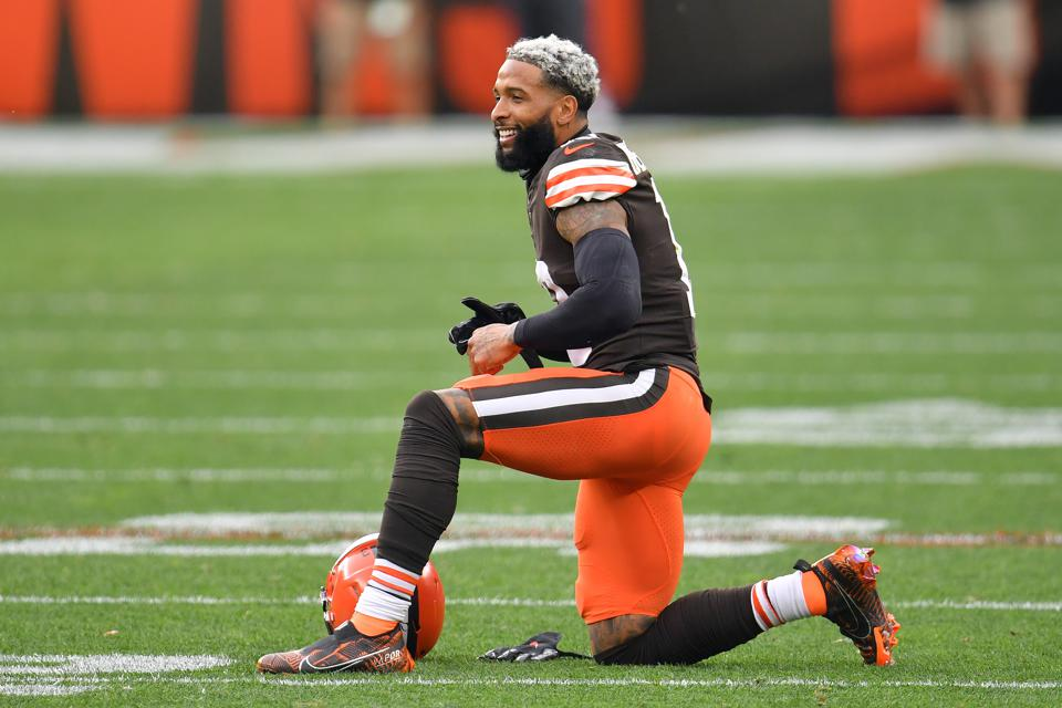 Odell Beckham Jr of the Cleveland Browns, playing against the Indianapolis Colts.