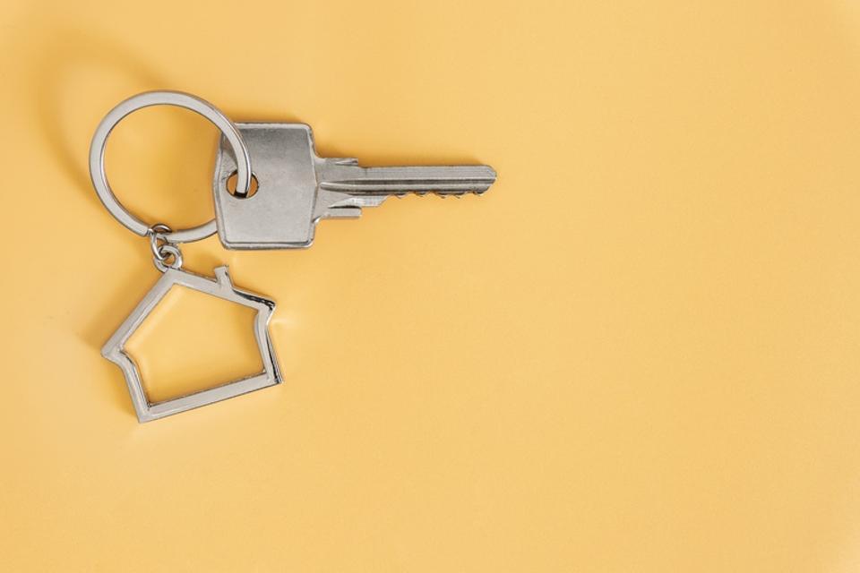 Key With House Shaped Key Chain