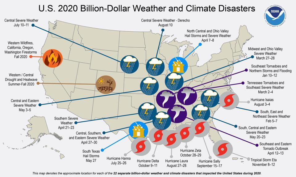 Billion dollar weather disasters