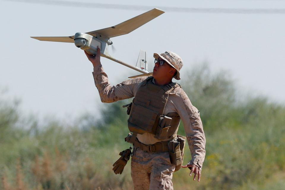 Hand launched drone